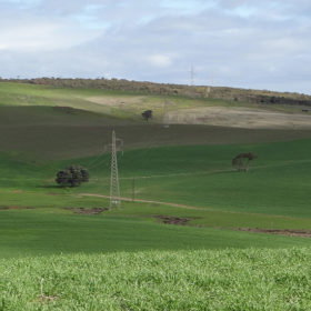 Transmission lines in the Lower Eyre Peninsula