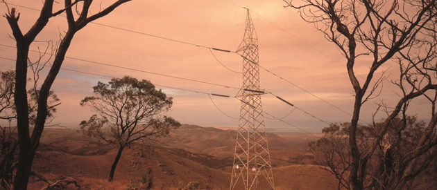Powerlines in outback