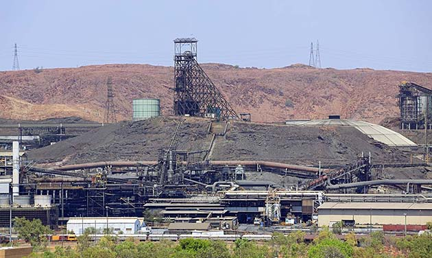 Mount Isa Mines on hot summer day